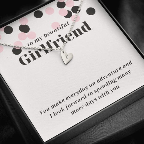 Fun Confetti Custom Engraved Girlfriend Sweetheart Necklace