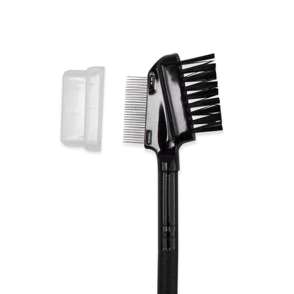 Metal Eyelash Comb and Double Ended Angled Eyebrow Brush Spoolie Set