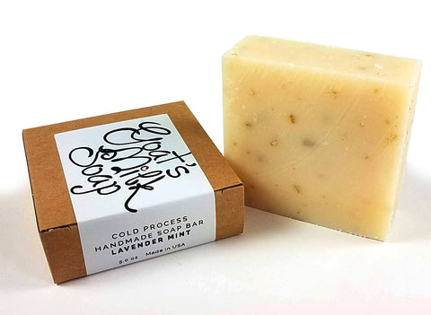 Lavender Mint Handmade Fresh Goat's Milk Bar Soap (1 bar)