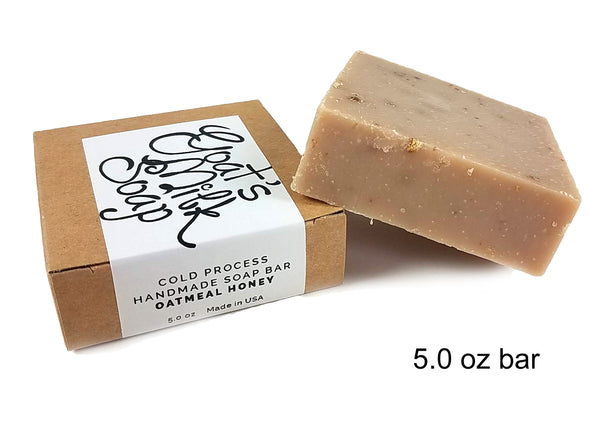 Oatmeal Honey Handmade Fresh Goat's Milk Bar Soap (1 bar)