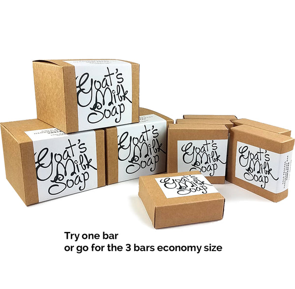 Lavender Mint Handmade Fresh Goat's Milk Bar Soap (3 bars Economy Pack)