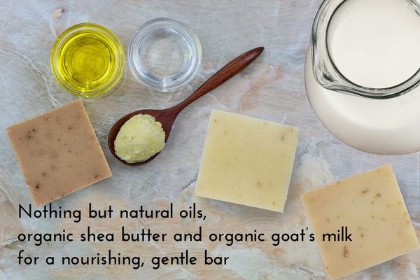 Oatmeal Honey Handmade Fresh Goat's Milk Bar Soap (3 bars Economy Pack)