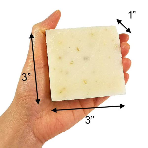 Unscented Handmade Fresh Goat's Milk Bar Soap (3 bars Economy Pack)