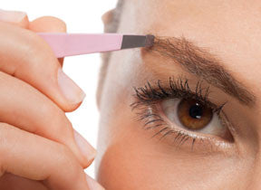 Tweezers and Scissors Set for Eyebrows Shaping