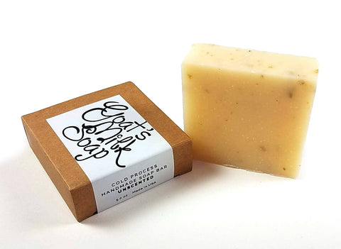 Unscented Handmade Fresh Goat's Milk Bar Soap (1 bar)