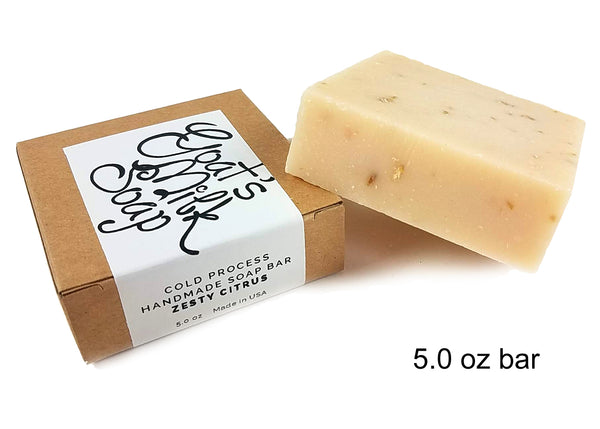 Zesty Citrus Handmade Fresh Goat's Milk Bar Soap (1 bar)
