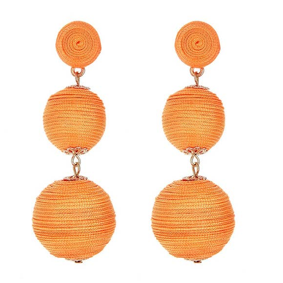 Orange Bailey Earrings