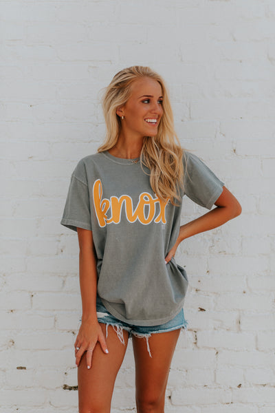 Knox Grey Comfort Colors Tee