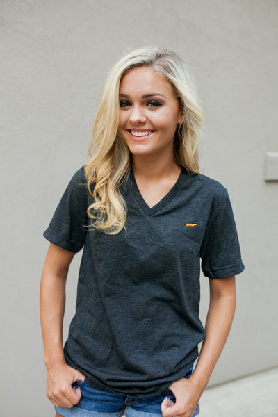 Stitched Tennessee Tee in Charcoal