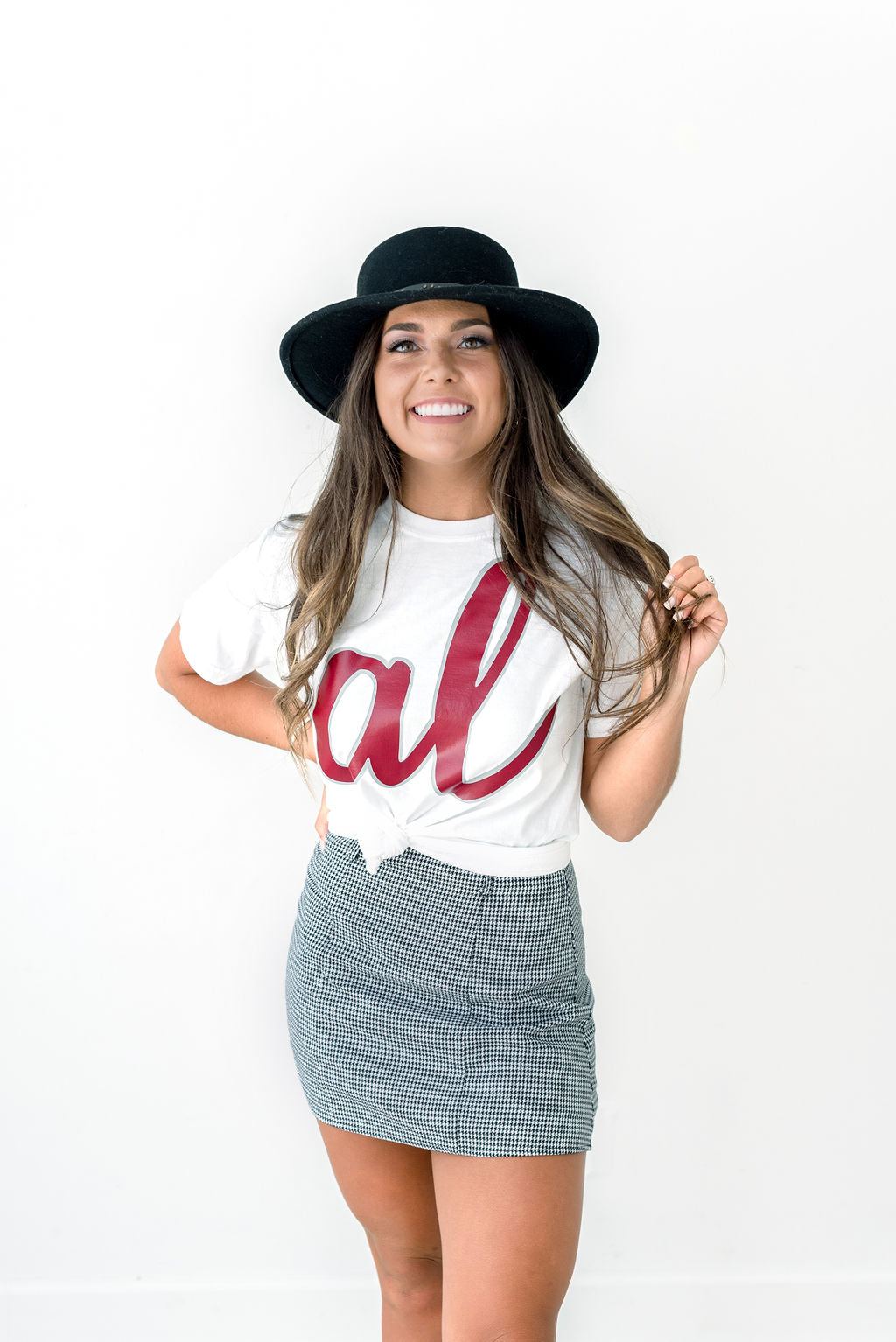 AL Script on Short Sleeve Comfort Colors Tee