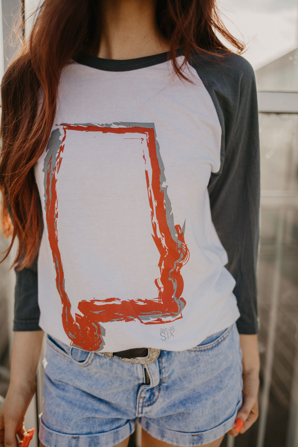 AL Outline Baseball Tee