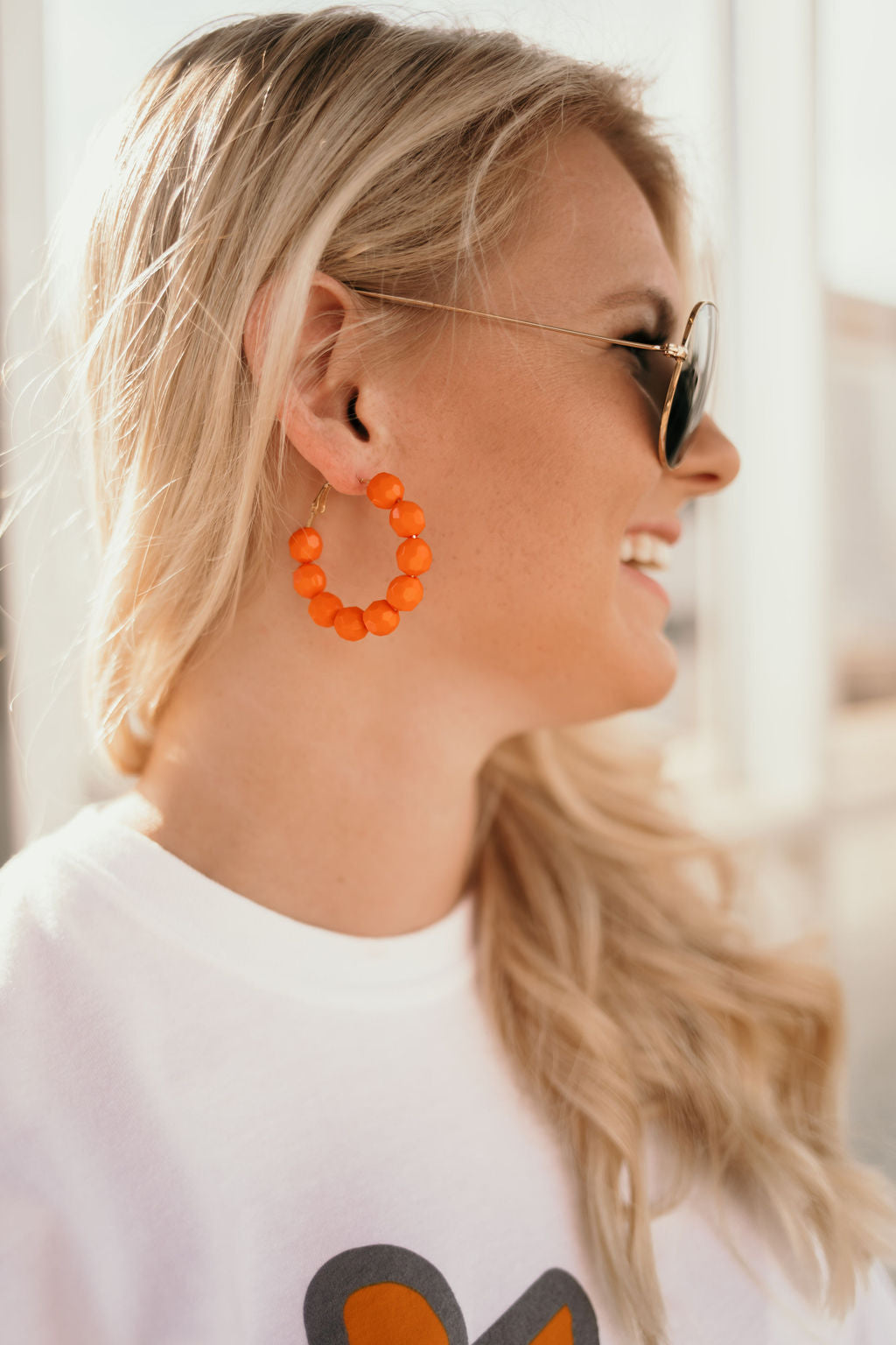 Chelsey Beaded Hoop Earrings