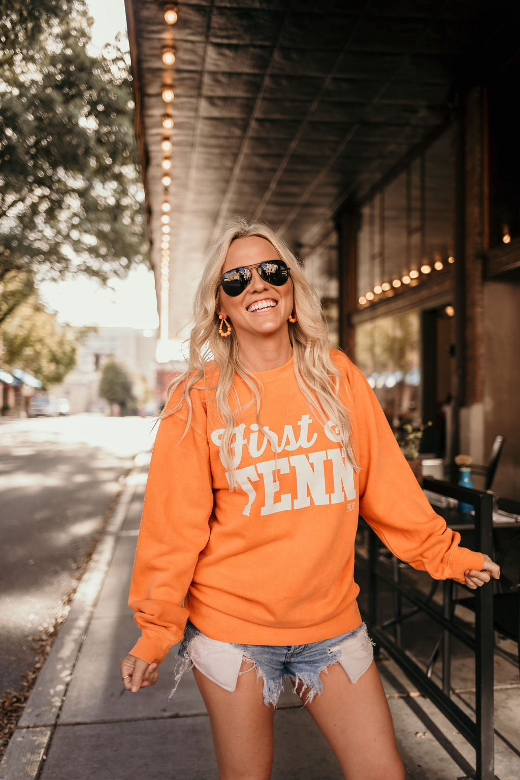 First and Tenn Orange Sweatshirt