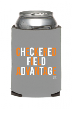 Checkered Field Advantage Koozie