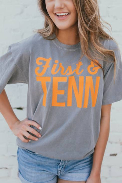 First & Tenn Grey Short Sleeve