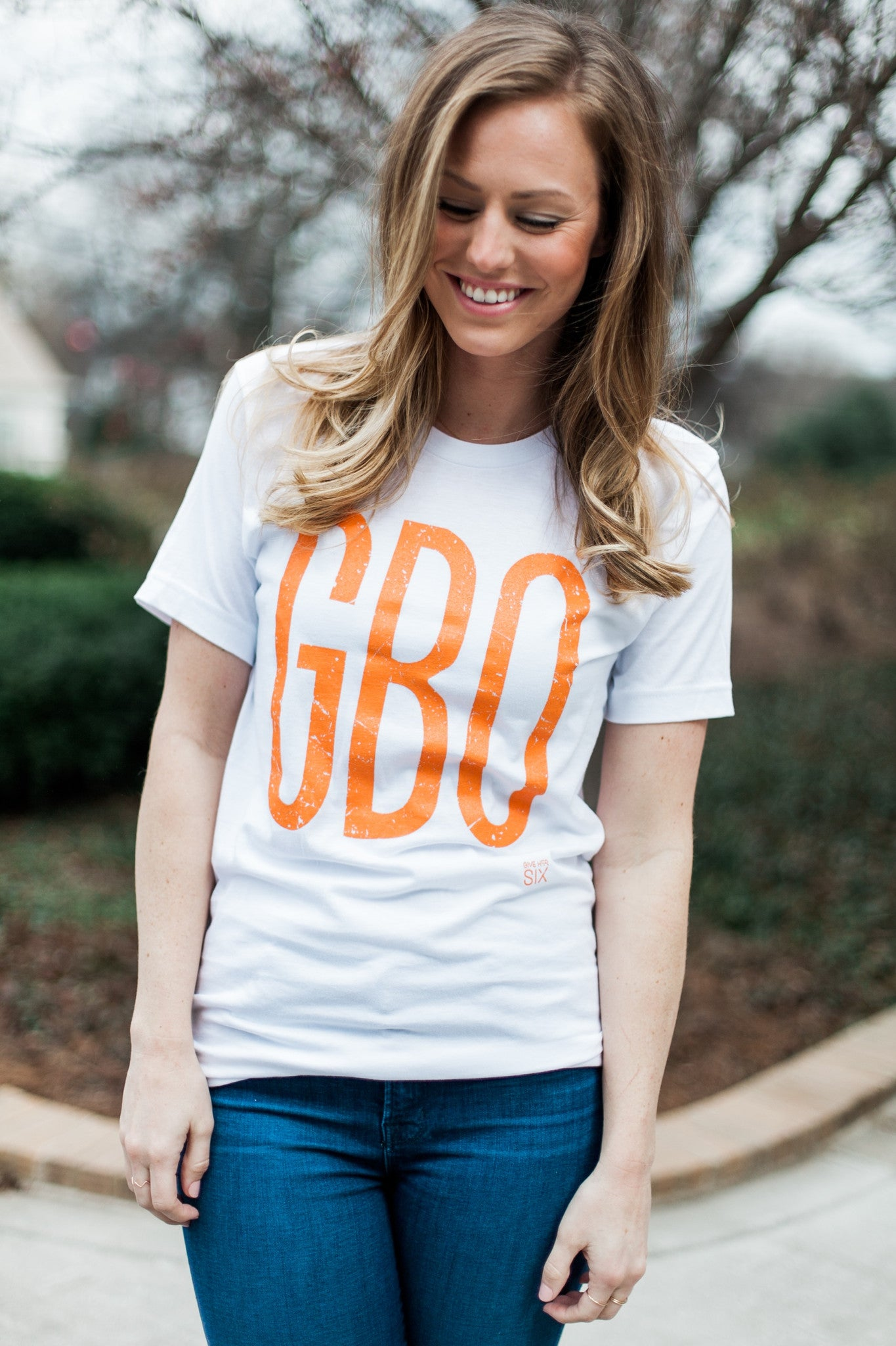 GBO White Short Sleeve T-shirt