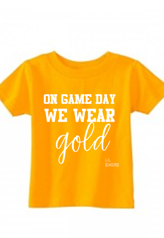 Lil' On Game Day Gold Tee