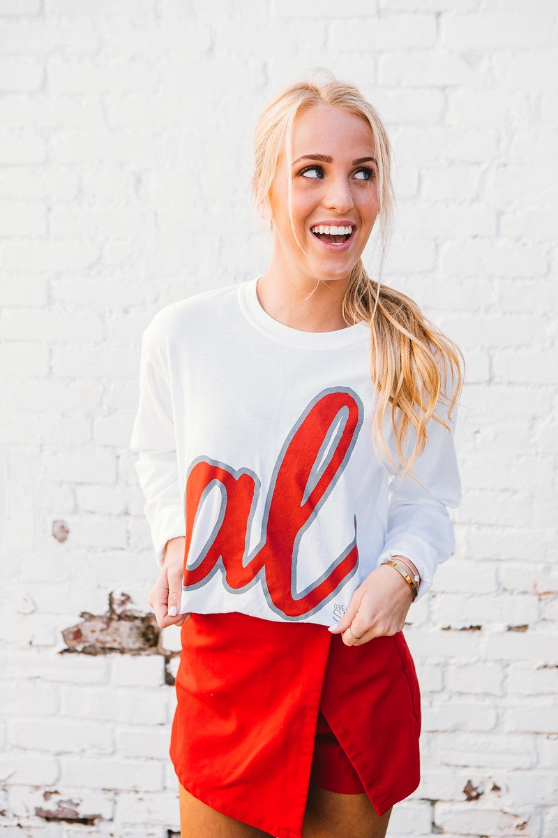 AL Script Long Sleeve Tee