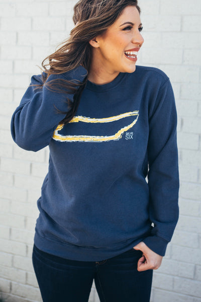 Tennessee Comfort Colors Sweatshirt in Navy and Gold