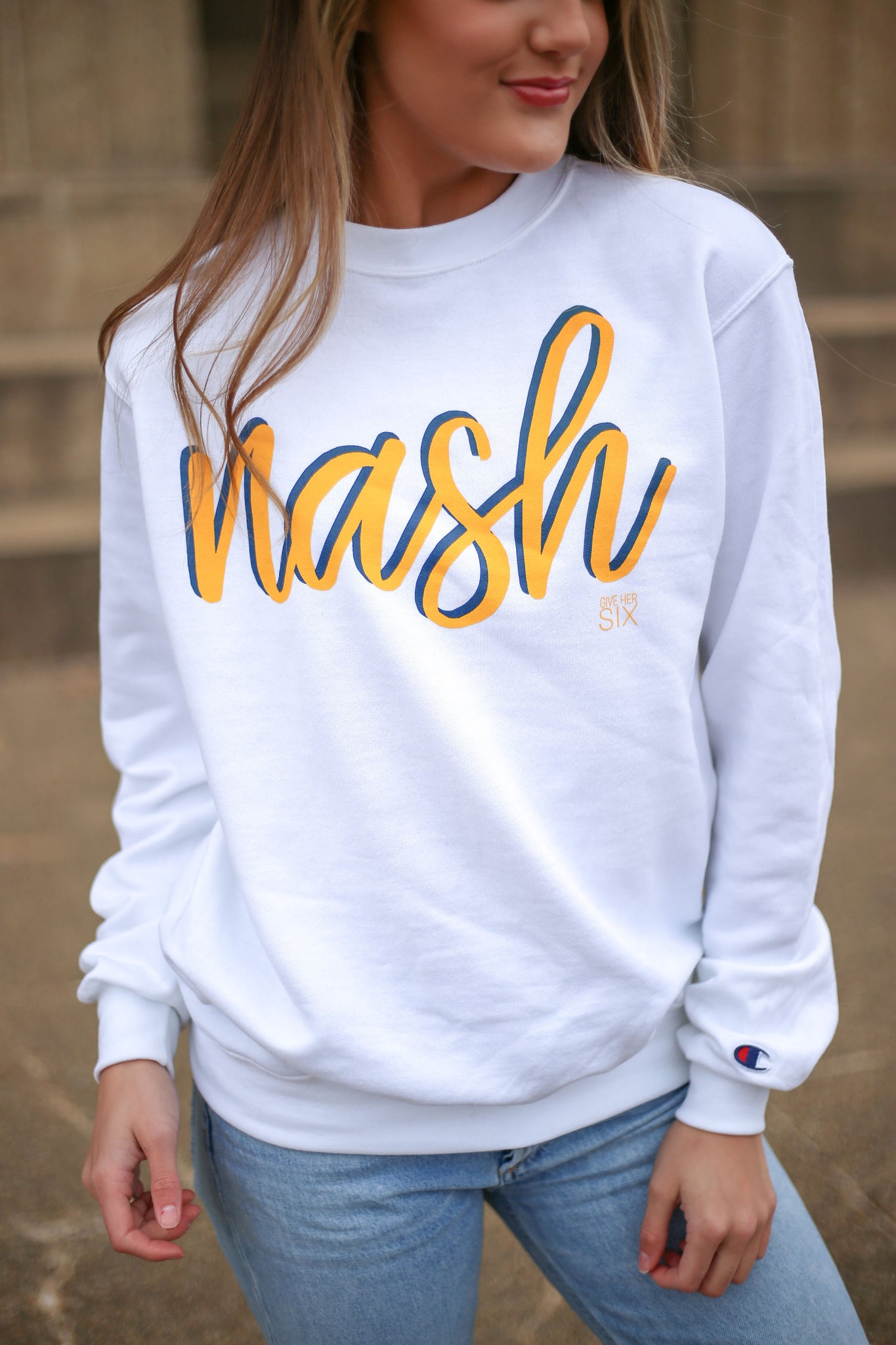 Nash White Sweatshirt