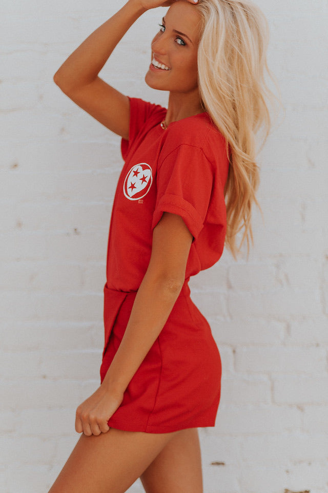 Tristar Heart Red Tee