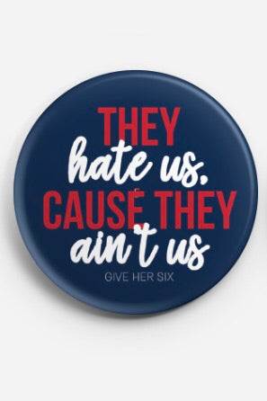They Ain't Us Button - Navy