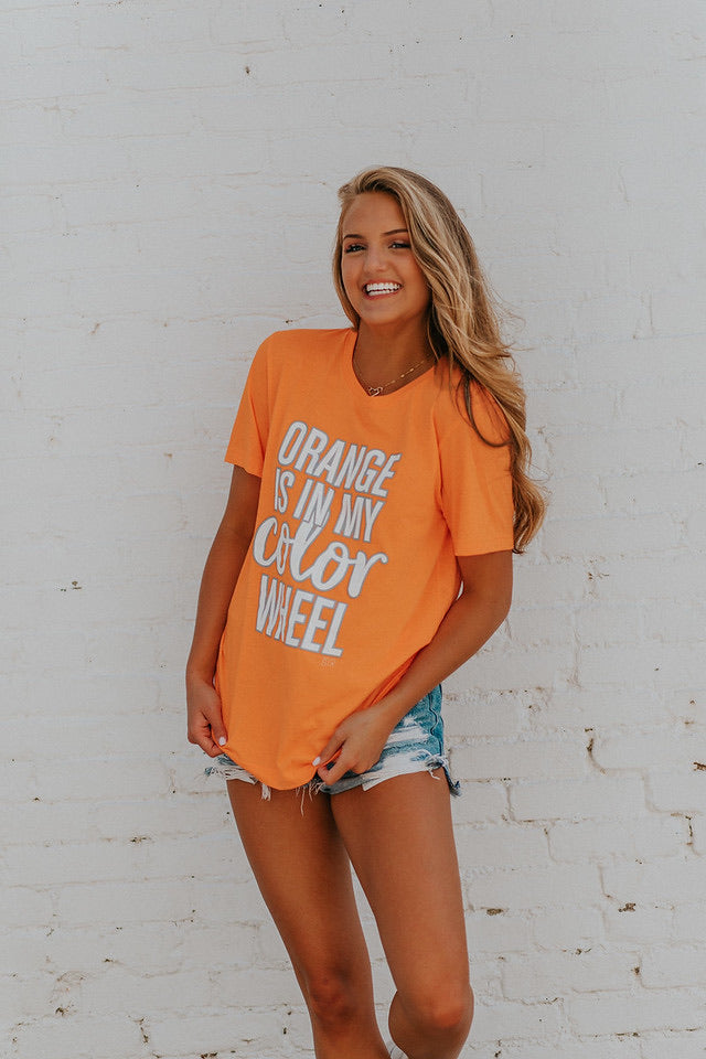 Orange Color Wheel Tee