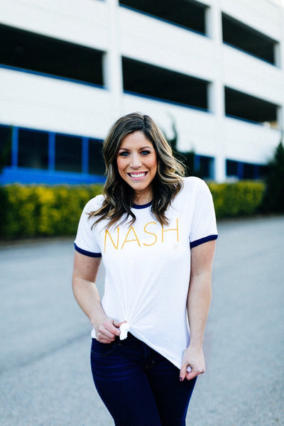 NASH Ringer Tee (Navy Rings)