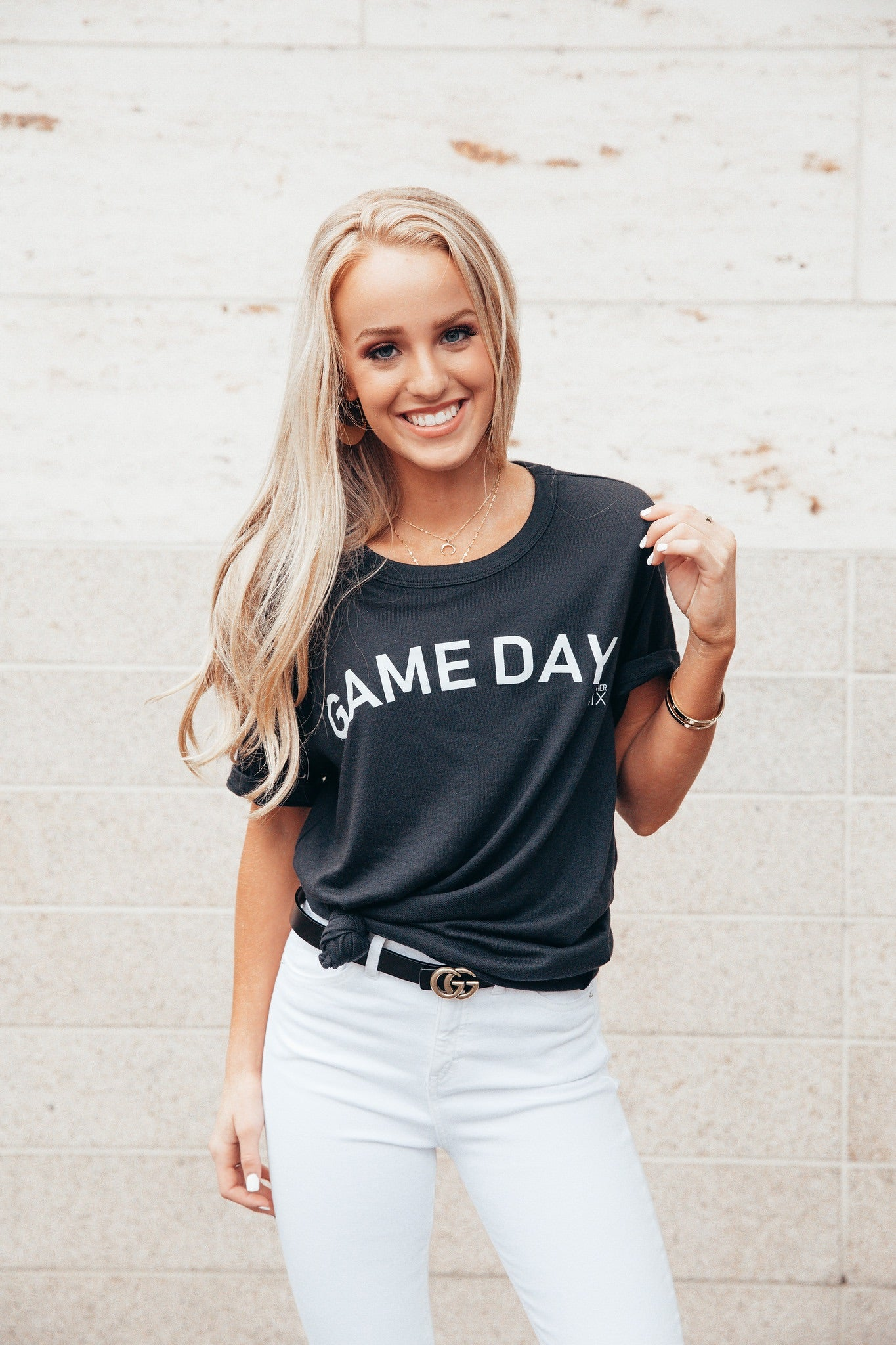 Game Day Black Tee
