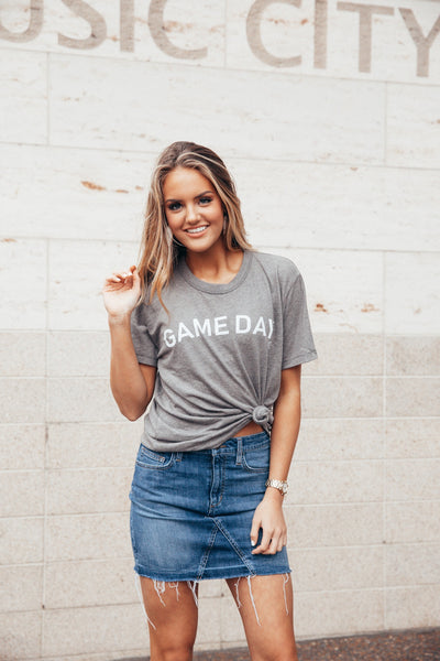 Game Day Grey Tee