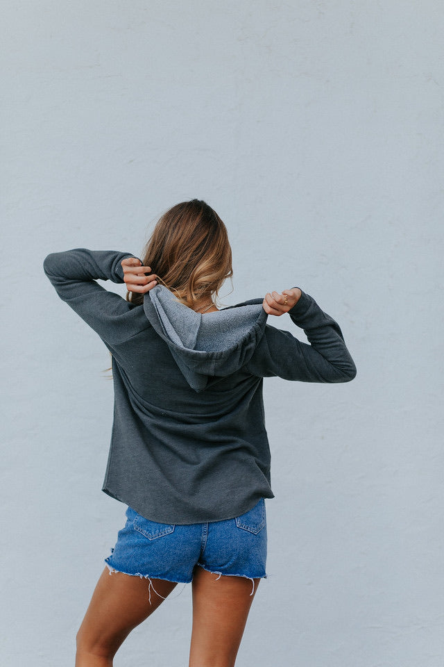 Knox Script Grey Hooded Sweatshirt
