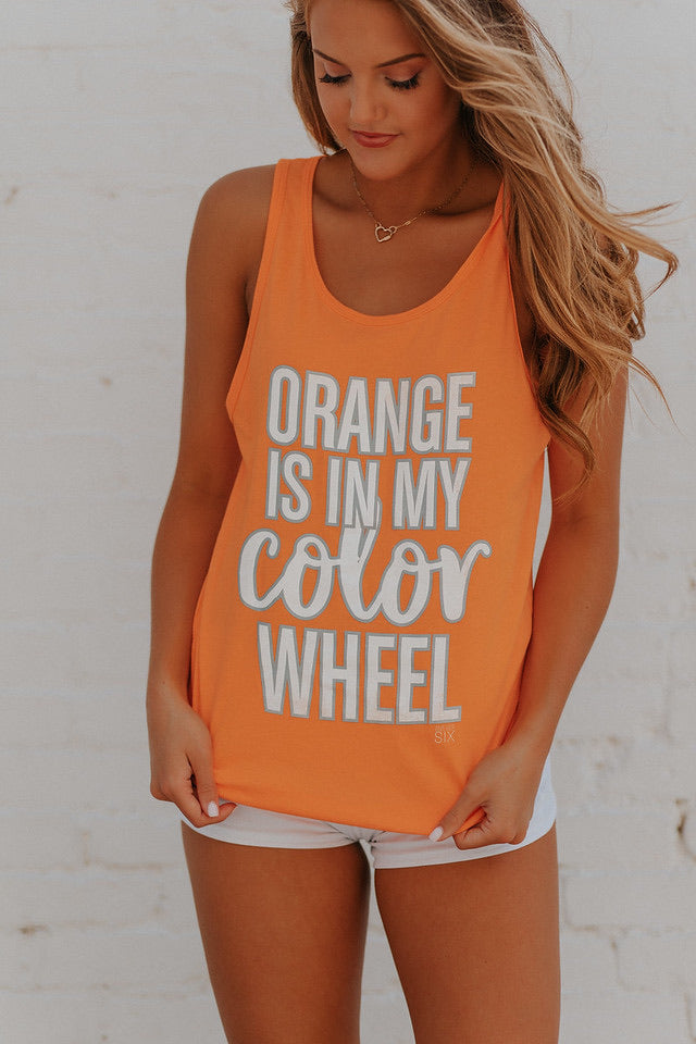 Orange Color Wheel Tank