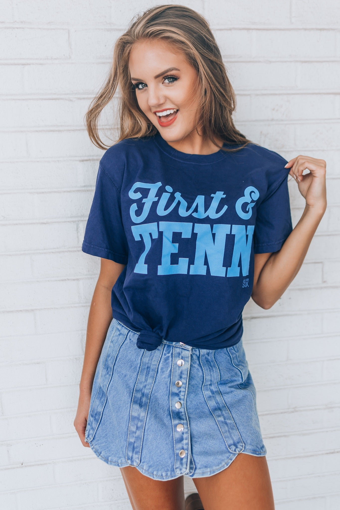 First & Tenn Navy Short Sleeve Tee