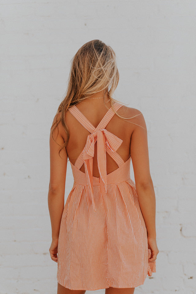 Orange Gingham Dress