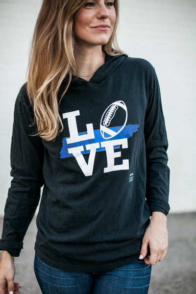 Love Blue TN Football Hoodie