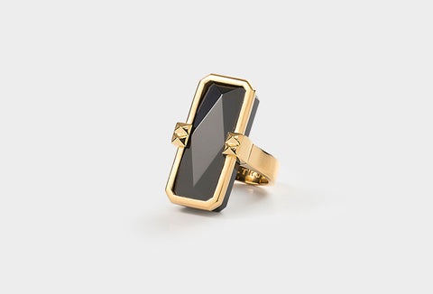 ALTRUIS gold & black ring