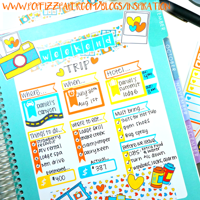 Vacation Planning with Planner Stickers!