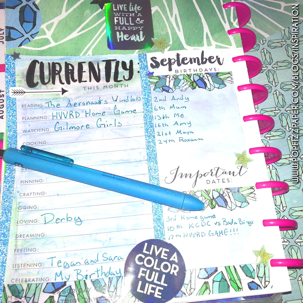 Decorating Month Overview in Happy Planner