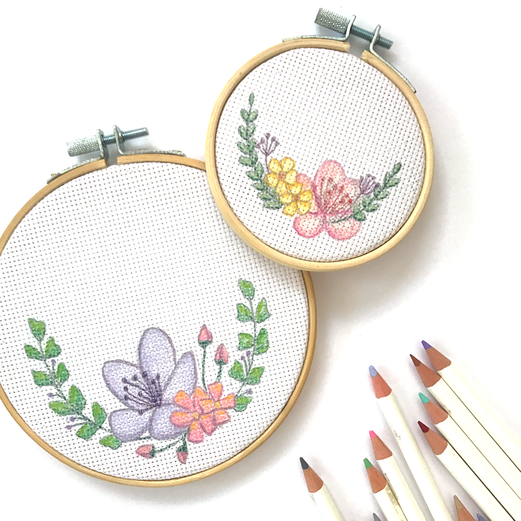 Faux Botanical Embroidery with Tombow Irojiten Pencils