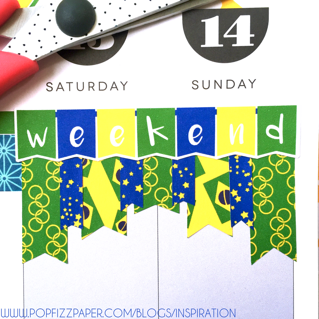 Fun Washi Weekend Banner