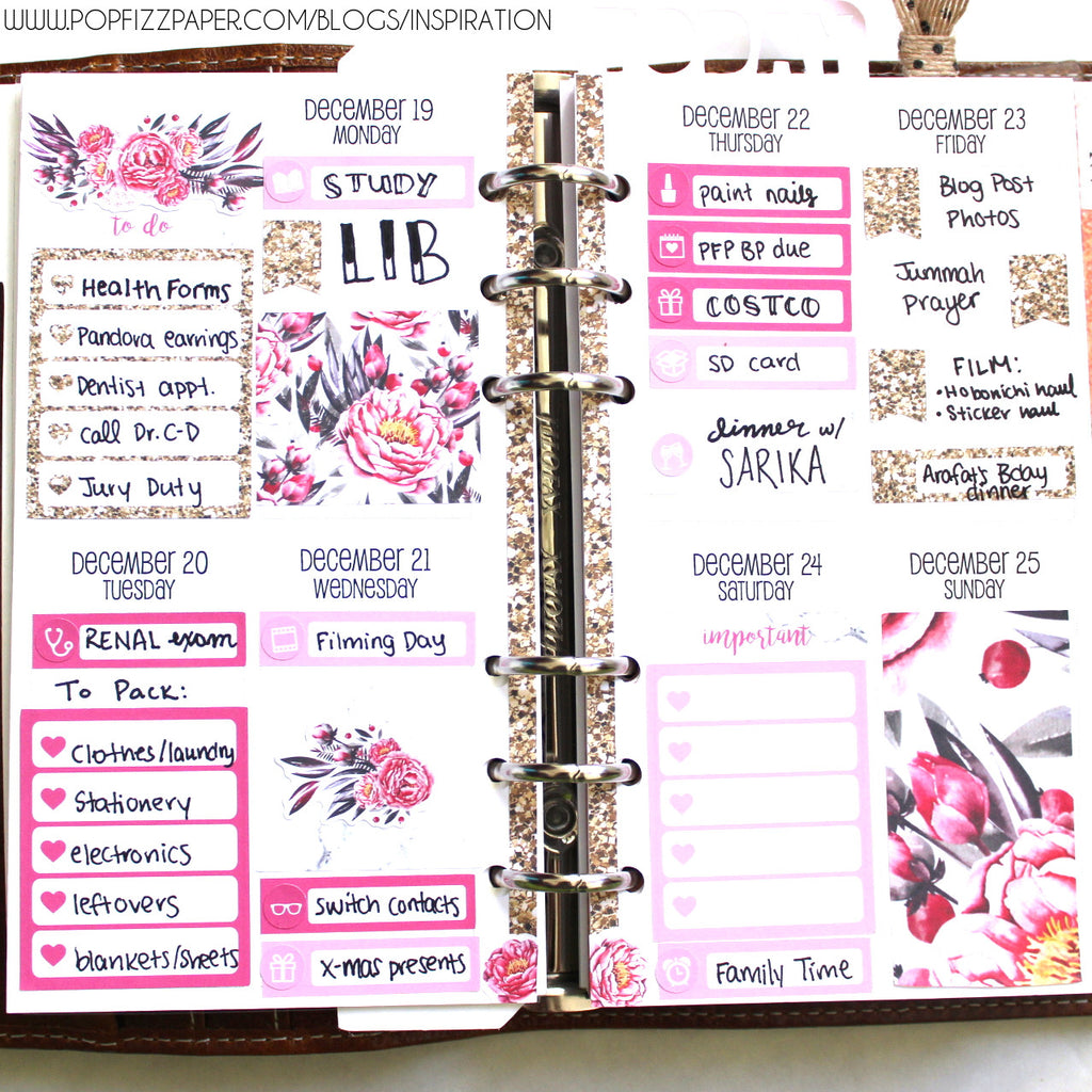 Using a Monthly Kit as a Weeky in your Personal Planner