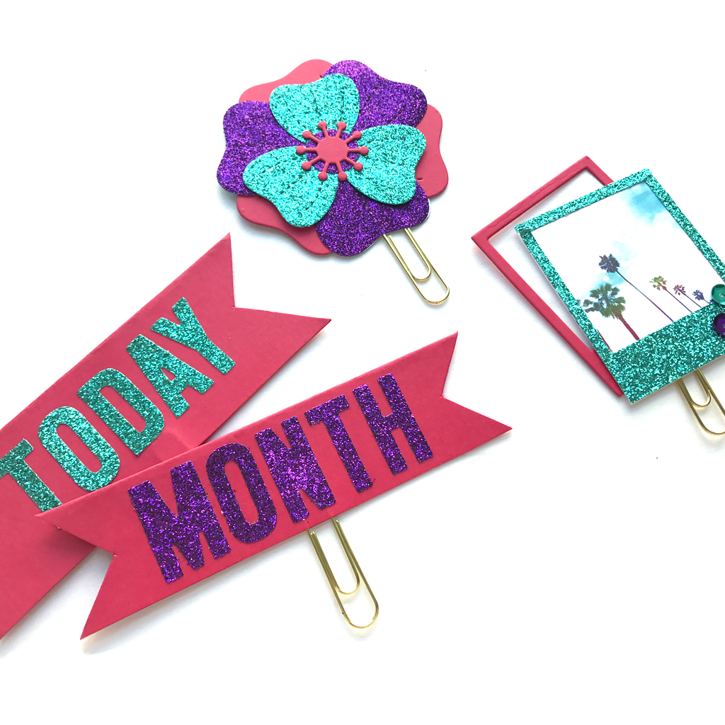 Planner Clips 5 Ways with Tombow and Lawn Fawn