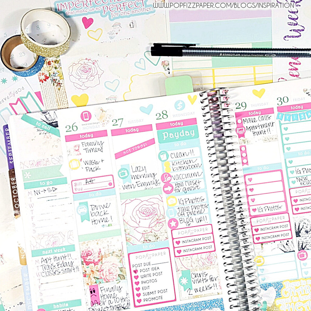 Using a Horizontal kit in an Vertical Erin Condren