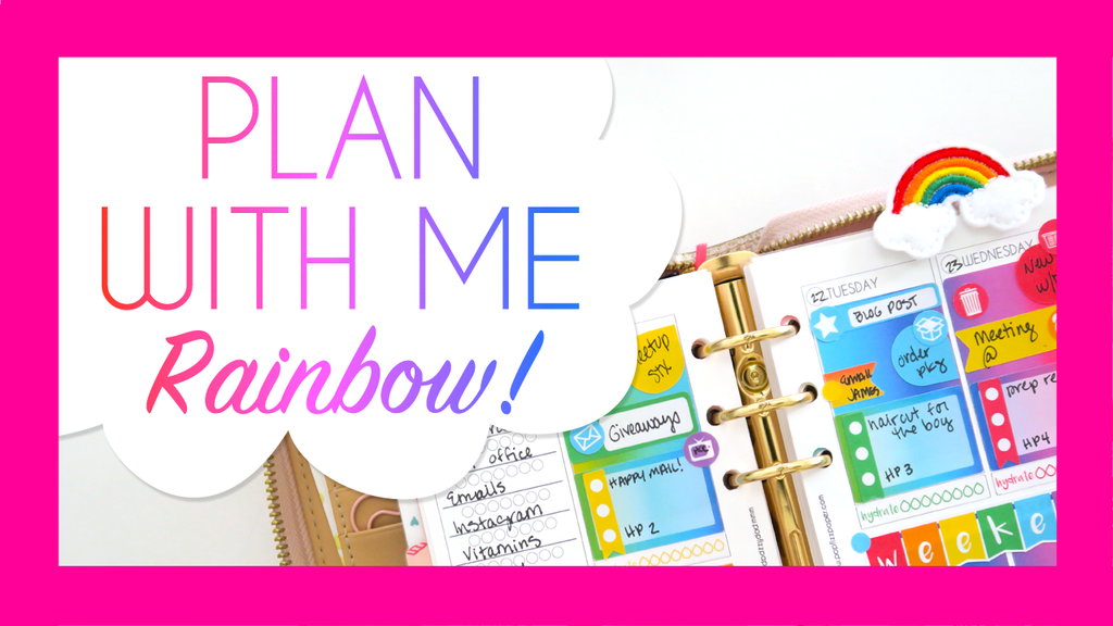 Rainbow Plan With Me