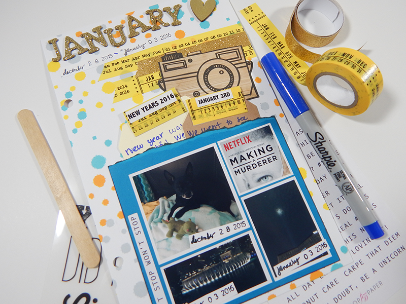 January Daily Scrapbook Page