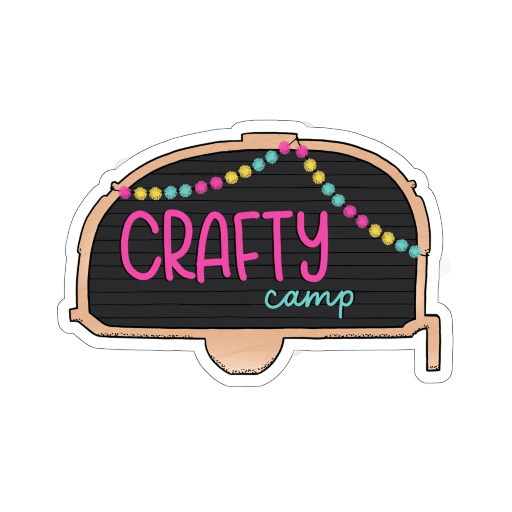 CRAFTY CAMP STICKER // Letterboard