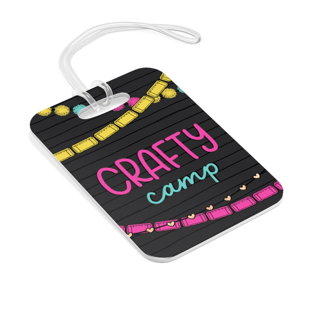 CRAFTY CAMP BAG TAG // Letterboard