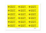AC07 - Cub Scout Meeting Stickers