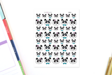 AN21 - Cute Panda Faces Stickers