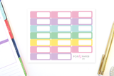 AP01 - Pastel Colors Appointment Stickers